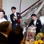 結婚披露宴でカポエイラ